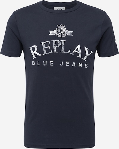 REPLAY T-Shirt in schwarz / weiß, Produktansicht