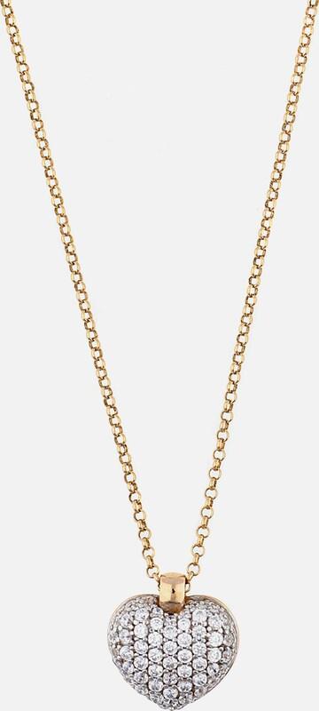 ESPRIT Halskette Euphoria mit funkelndem Herz-Anhänger ELNL92790B420