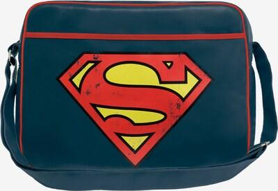LOGOSHIRT Tasche 'Superman Logo' in enzian / gelb / rot, Produktansicht