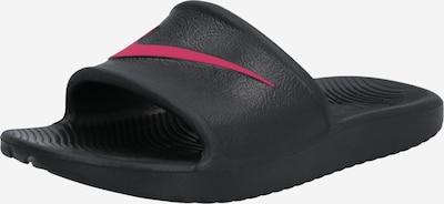 Nike Sportswear Buty na plażę/do kąpieli w kolorze różowy / czarnym: Widok z przodu