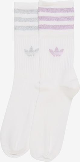 ADIDAS ORIGINALS Chaussettes 'MID CUT GLT SCK' en rose / argent / blanc, Vue avec produit