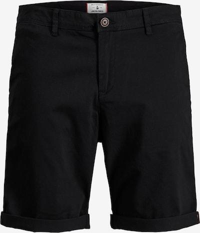 JACK & JONES Chino kalhoty - černá: Pohled zepředu