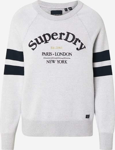 Superdry Pullover 'AMY LOGO KNIT' in grau, Produktansicht