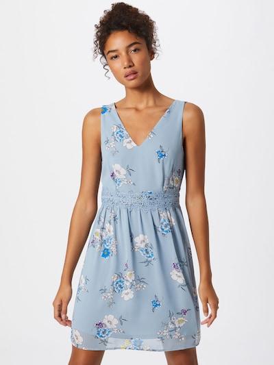 Vasarinė suknelė 'MILINI' iš VILA , spalva - mėlyna dūmų spalva / nakties mėlyna / melsvai pilka / dangaus žydra / balta, Modelio vaizdas