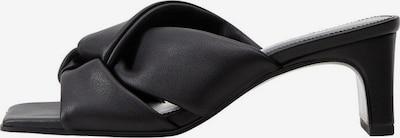 MANGO Mule en noir, Vue avec produit