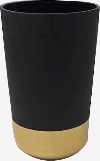 Wittkemper Living Dekovase 'Iris' in gold / schwarz, Produktansicht