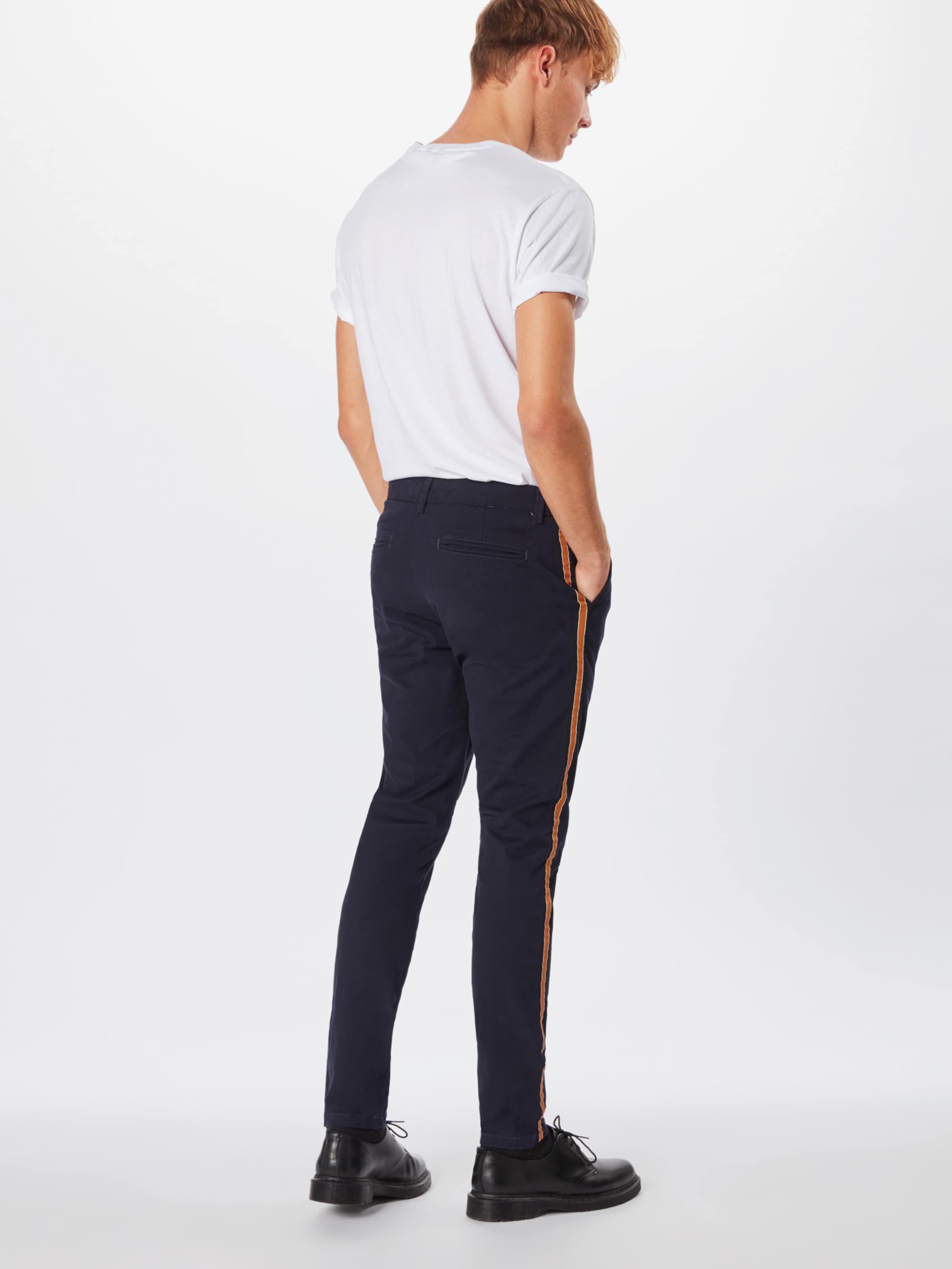 18 Side Look Chino Navy En 'rpaso Bleu Pantalon 04 Stripe' MarineOrange New 06 34LqRA5j