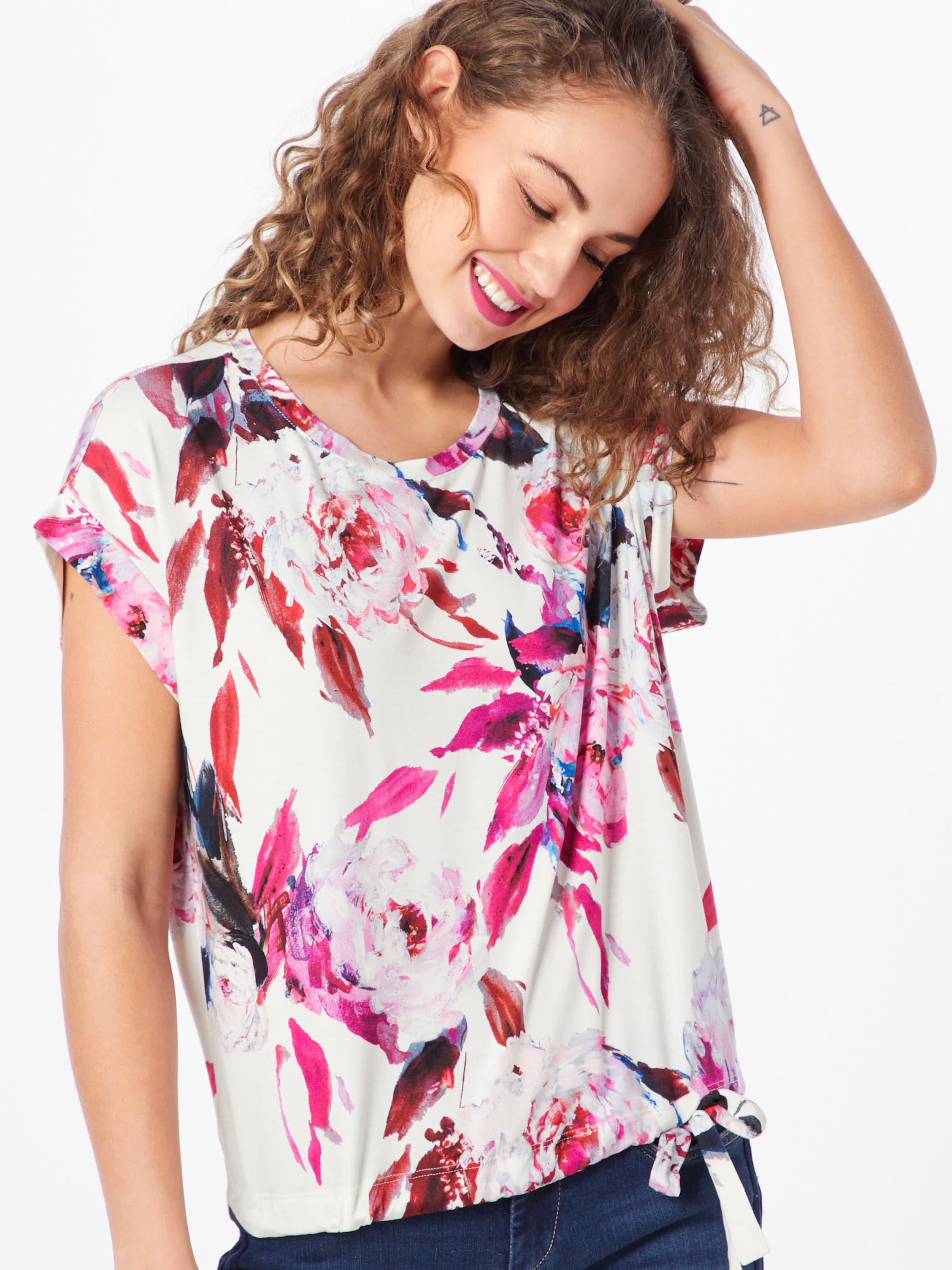 shirt Monari FoncéBlanc T En Rose clFK1TJu3