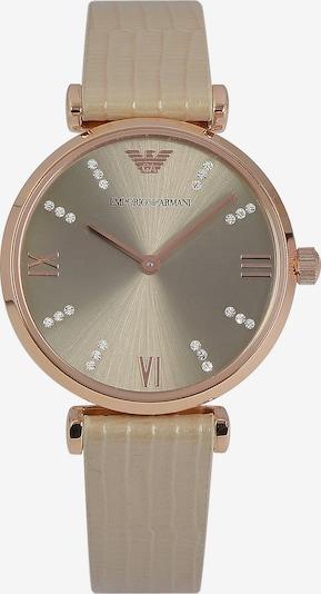 Emporio Armani Uhr in rosegold / grau, Produktansicht