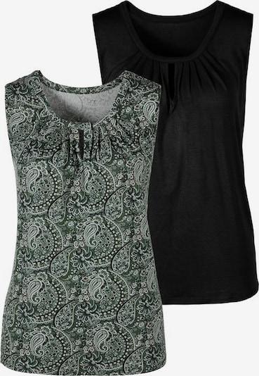 LASCANA Top in de kleur Groen / Zwart, Productweergave