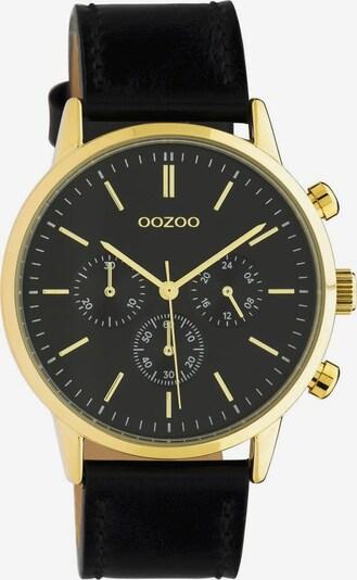 OOZOO Uhr in gold / schwarz, Produktansicht