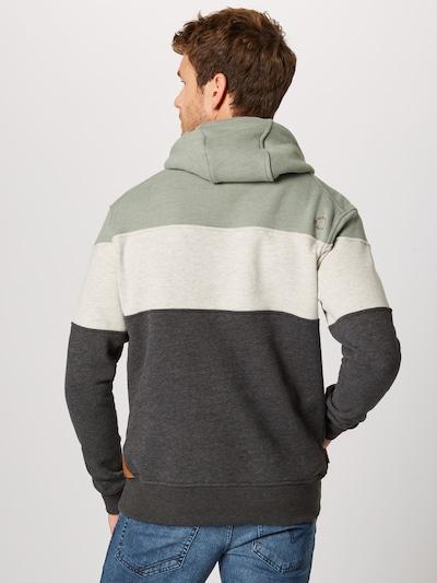 Alife and Kickin Sweat-shirt 'Jasper' en gris chiné / menthe / blanc chiné: Vue de dos