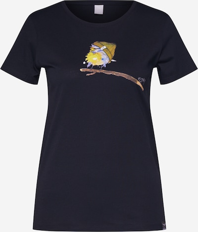 Iriedaily T-shirt 'It Birdy' en bleu foncé / mélange de couleurs, Vue avec produit