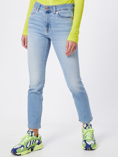 7 for all mankind Jeans 'ROXANNE ANKLE LUXE VINTAGE' in blue denim: Frontalansicht
