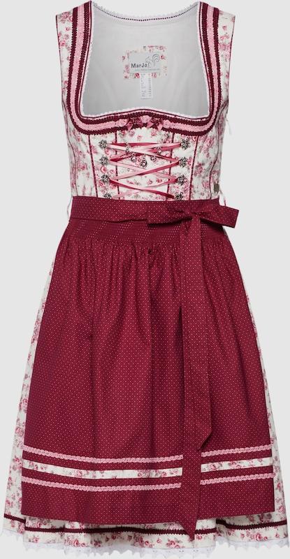 MARJO Dirndl 'Bomilla' in creme   dunkelrot  Mode neue Kleidung