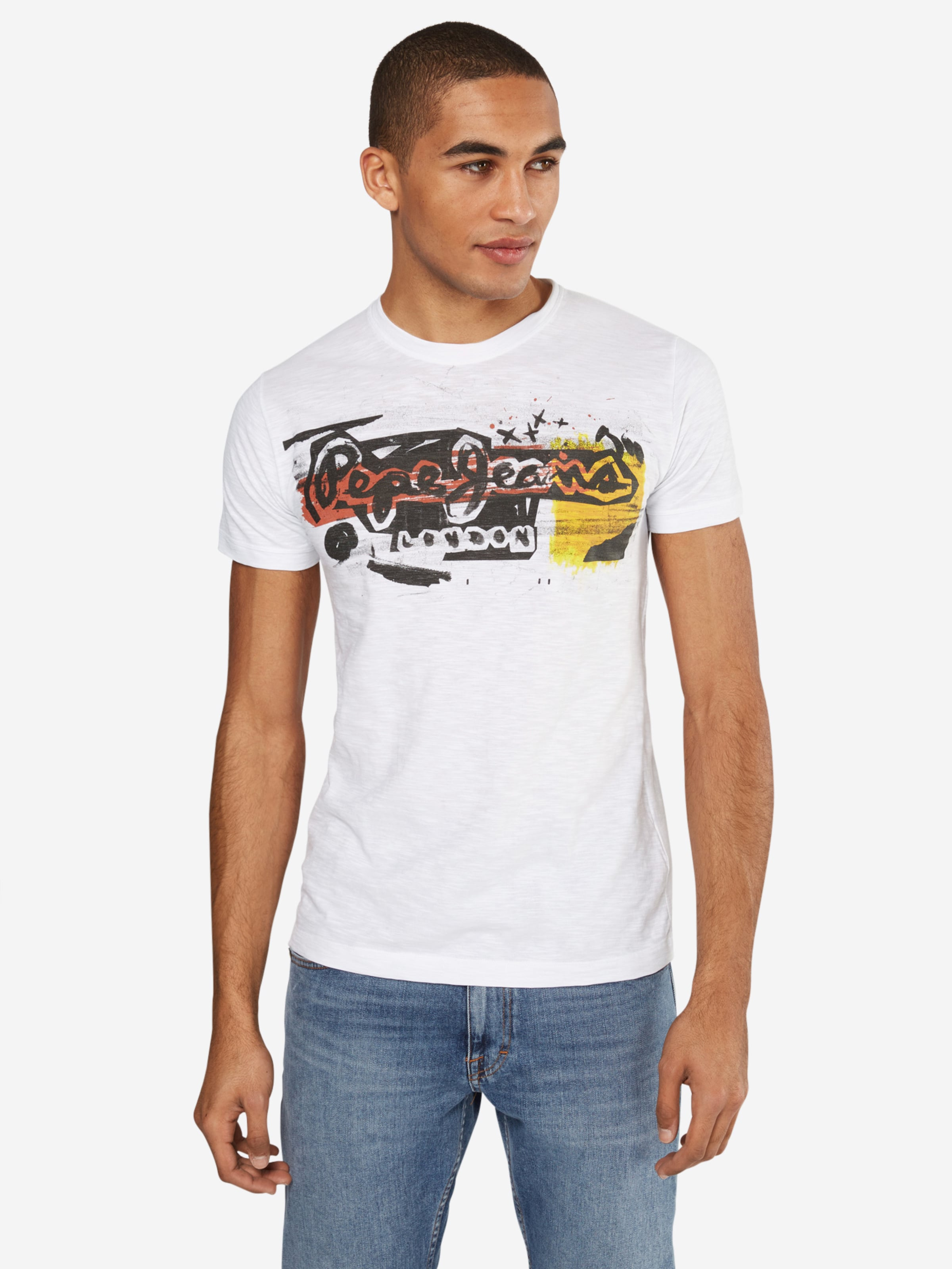 Pepe 'amersham' En Blanc shirt JauneNoir Jeans T VzqpSMU