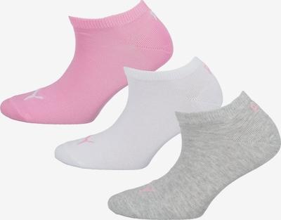 PUMA Socken in graumeliert / pink / weiß: Frontalansicht