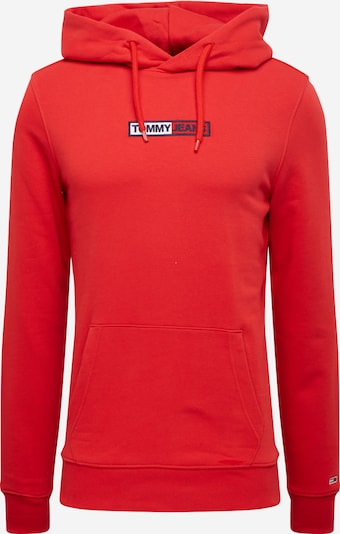 Tommy Jeans Sweatshirt 'TJM EMBROIDERED BOX HOODIE' in rot, Produktansicht