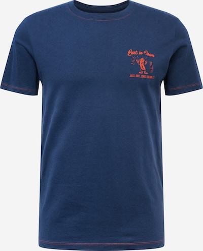 JACK & JONES Shirt 'MANNY' in navy / orangerot, Produktansicht