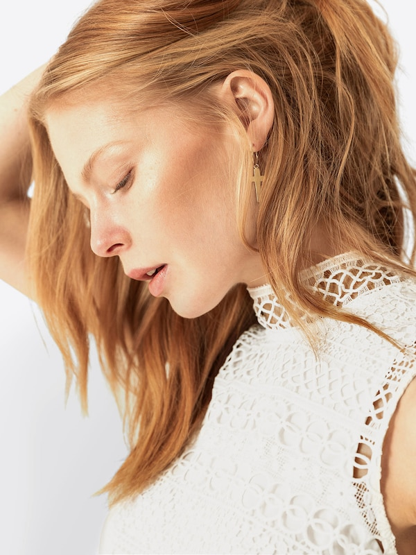 En Top' Blanc 'graphic Haut Lace Ivyamp; Oak LUpVSGjzMq