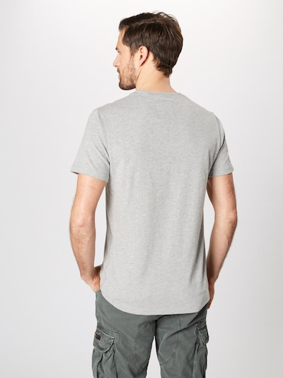 Superdry T-Shirt 'PREMIUM GOODS OUTLINE MID TEE' en gris / mélange de couleurs: Vue de dos