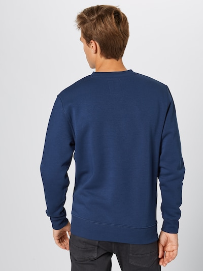 ALPHA INDUSTRIES Sweat-shirt en bleu marine: Vue de dos