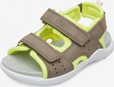 CAMPER Sandale 'Wous' in hellbraun / neongelb, Produktansicht