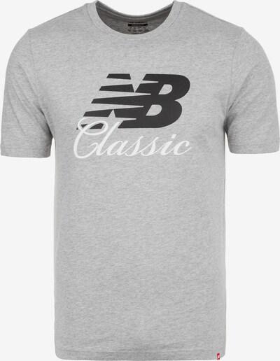 new balance T-Shirt 'MT91588' in grau / schwarz / weiß, Produktansicht
