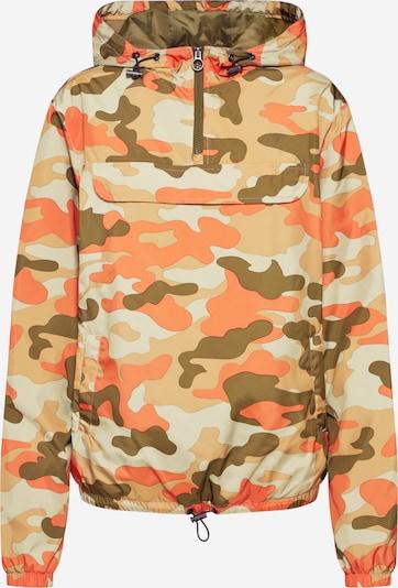 Urban Classics Jacke in beige / grün / koralle, Produktansicht