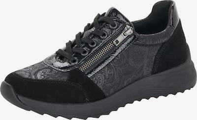 REMONTE Schnürschuh in schwarz / silber, Produktansicht