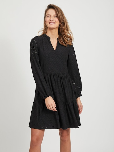 VILA Minikleid in schwarz, Modelansicht