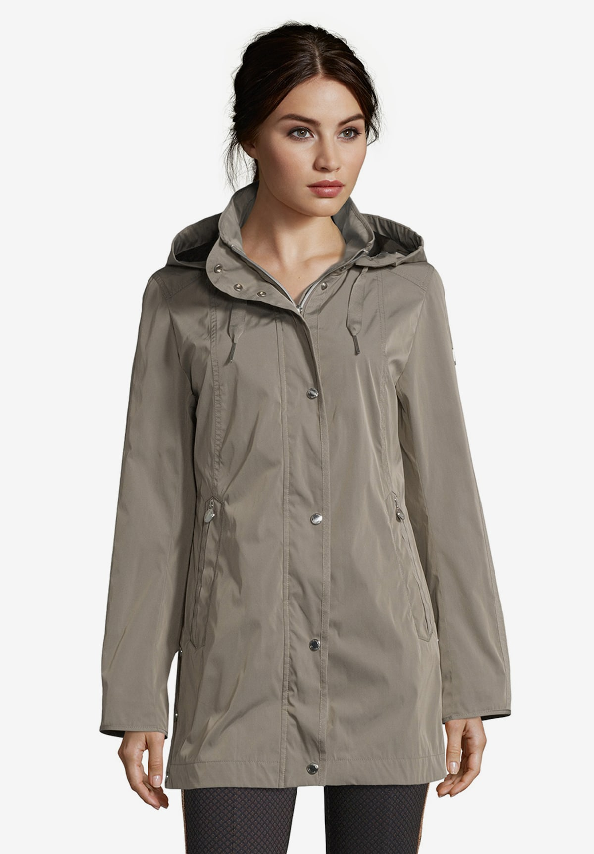 Beliebt Frauen Bekleidung Betty Barclay Outdoorjacke mit abnehmbarer Kapuze in khaki Zum Verkauf