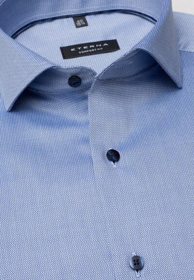 ETERNA Hemd in blau: Frontalansicht