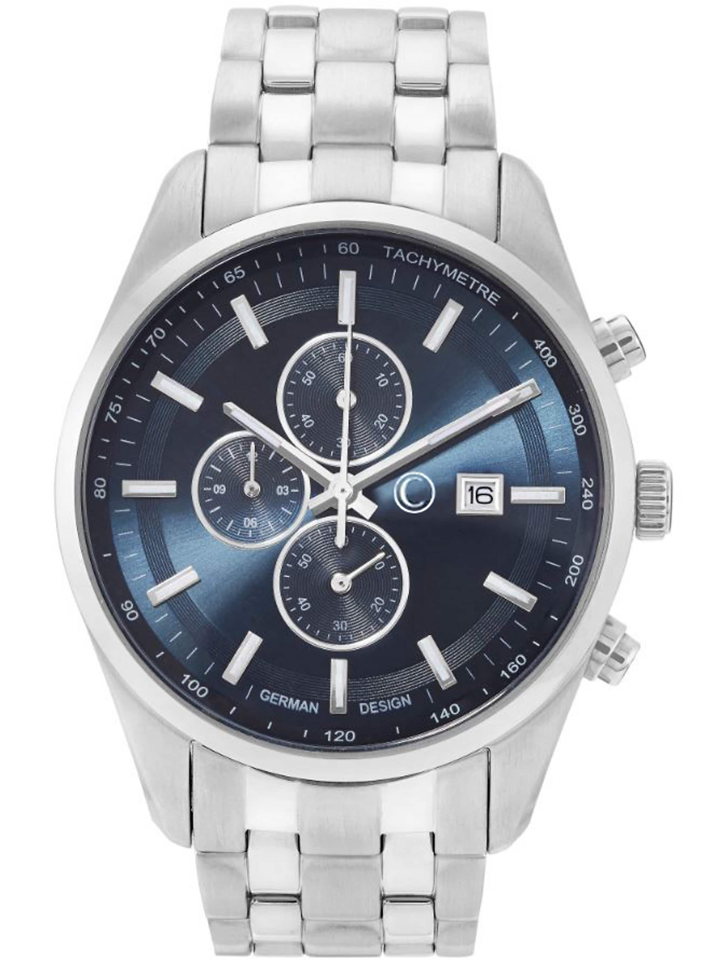 Chronograph In C collection DunkelblauSilber 0Nmv8nw