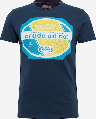 Petrol Industries Tričko - nebesky modrá / tmavomodrá / žlté / biela, Produkt