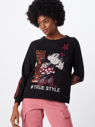 PRINCESS GOES HOLLYWOOD Sweatshirt 'Disney Minnie' in de kleur Donkerrood / Zwart / Wit: Vooraanzicht