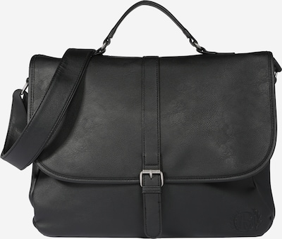 BURTON MENSWEAR LONDON Meeste õlakott 'BLACK PU MESSENGER  ' must, Tootevaade