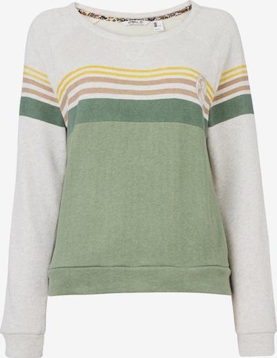 O'NEILL Sweatshirt 'Heather' in gelb / grün / weiß, Produktansicht