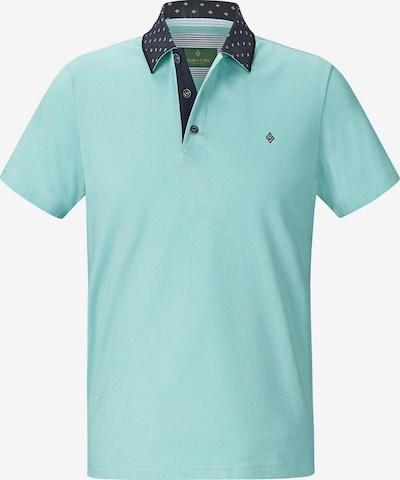 Charles Colby Poloshirt 'Maxen' in navy / türkis, Produktansicht