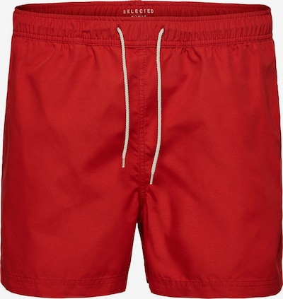 SELECTED HOMME Basic - Badeshorts in rot, Produktansicht