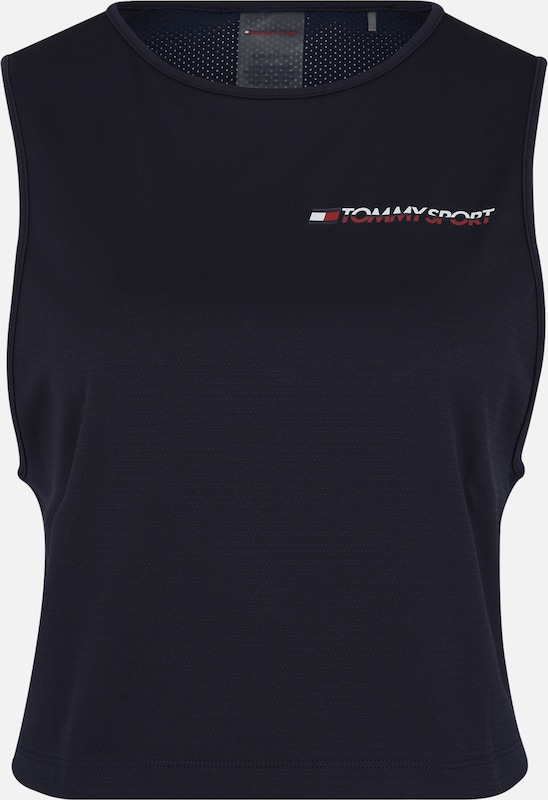 Tommy Sport Sport-Top 'CROPPED TANK TOP LOG' in marine, Produktansicht