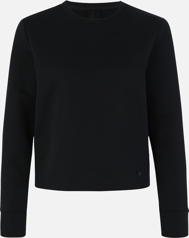 UNDER ARMOUR Sweatshirt 'UNSTOPPABLE MOVE LIGHT RADIAL BACK PLEAT' in schwarz, Produktansicht