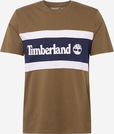 TIMBERLAND T-Shirt en bleu marine / marron / blanc, Vue avec produit