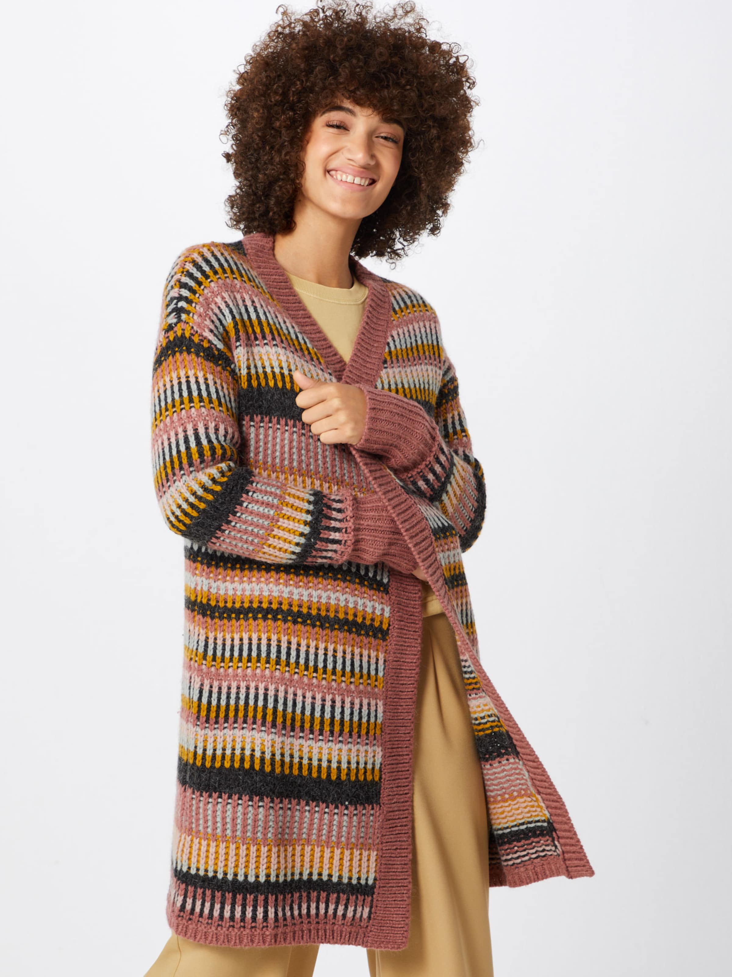 Review 'graphic' DunkelblauGelb Cardigan Altrosa In Nnv0mO8w
