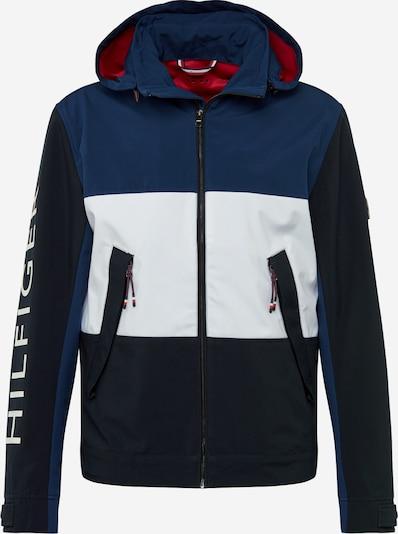 TOMMY HILFIGER Prehodna jakna 'Flex' | mornarska / nočno modra / rdeča / off-bela barva, Prikaz izdelka