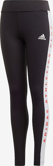 ADIDAS PERFORMANCE Leggings in rot / schwarz / weiß, Produktansicht