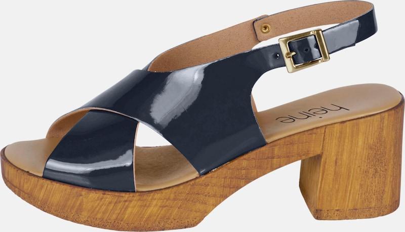 heine | Sandalette in Lack-Optik