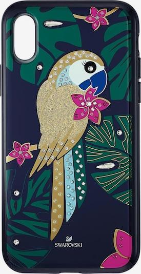 Swarovski Smartphonehülle 'Tropical Parrot' in dunkelblau / mischfarben, Produktansicht