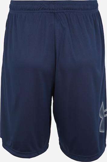 UNDER ARMOUR Sportbroek in de kleur Navy / Wit: Achteraanzicht