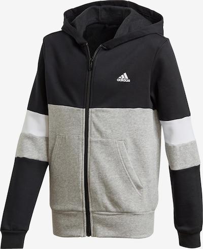 ADIDAS ORIGINALS Sweatjacke in grau / schwarz / weiß, Produktansicht